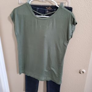 Justice Jeggings and Old Navy Girls Top Size 10